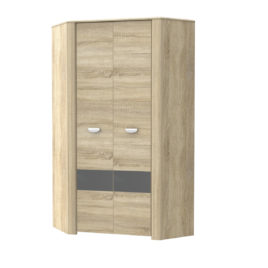 Rohová šatní skříň YOOP