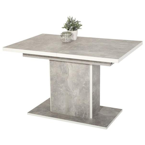 Sconto Stůl ALICE T beton/bílá