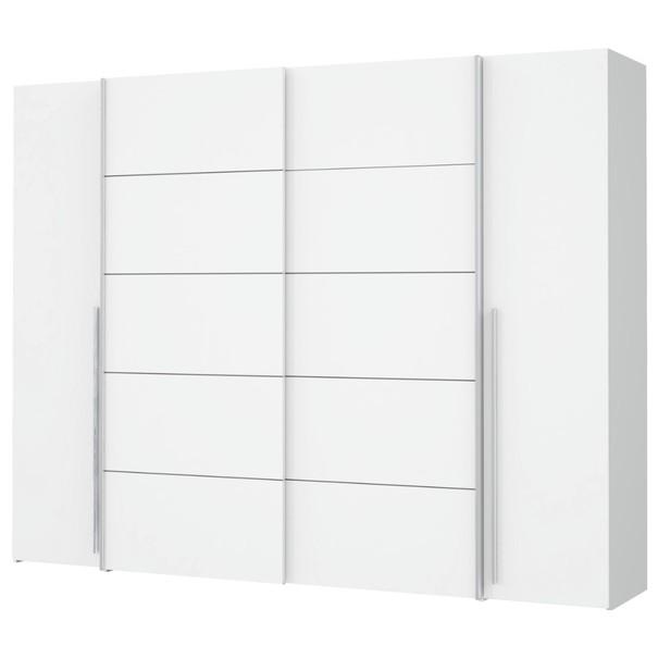 Sconto Šatní skříň ARAGON bílá, dub sonoma