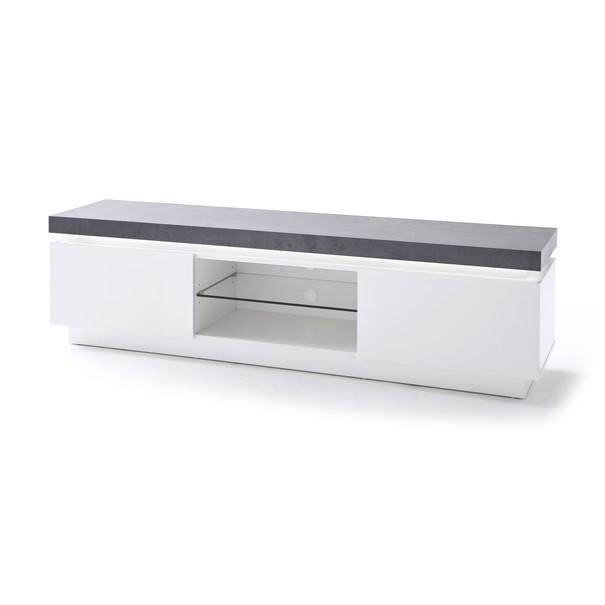 Sconto TV stůl ATREJU bílá/beton
