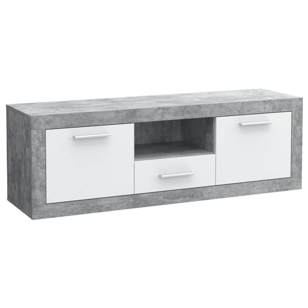 Sconto TV stolek BACCIO bílá/beton
