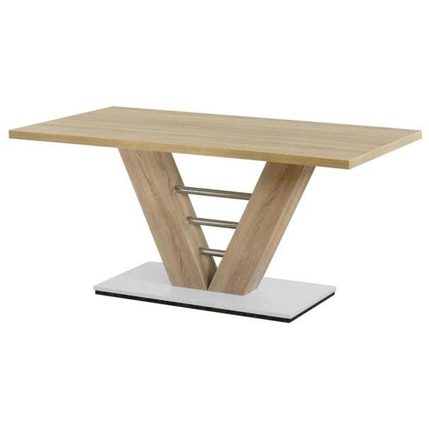Sconto Jídelní stůl BAHRAIN dub sonoma/kov