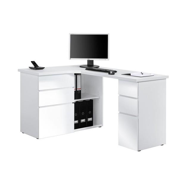 Sconto Rohový psací stůl BAKER Pracovní