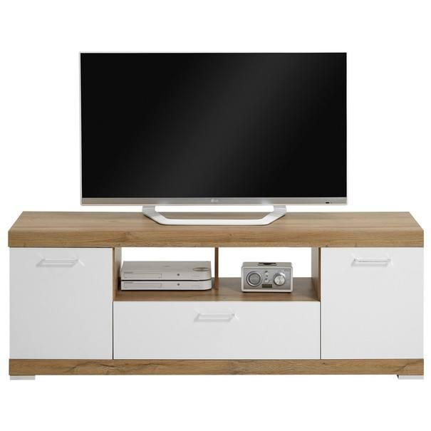 Sconto TV stolek BRISTOL II dub/bílá