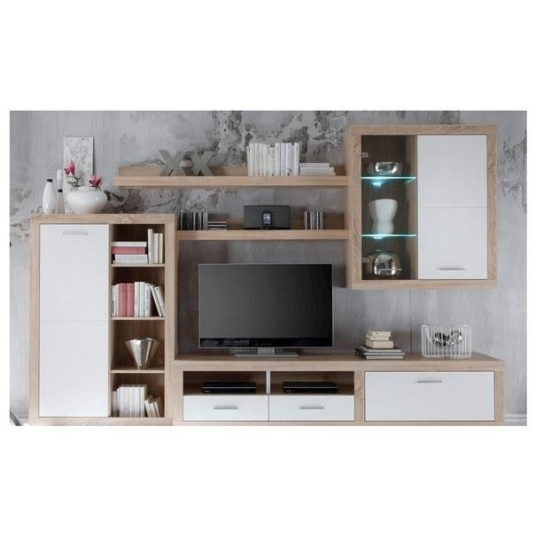 Sconto Obývací stěna CANCAN dub sonoma/bílá