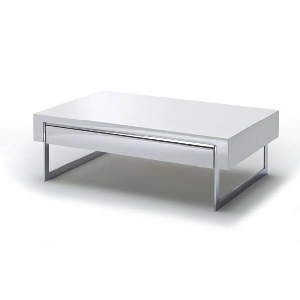 Sconto Konferenční stolek CARMONA bílá vysoký lesk/chrom