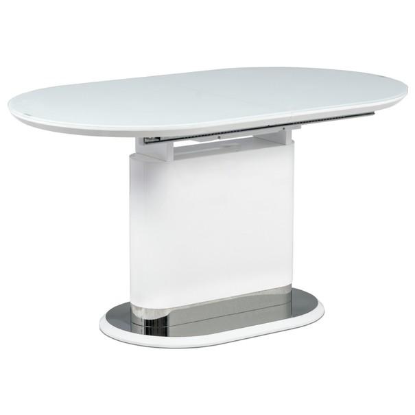 Sconto Jídelní stůl CARTER bílá/sklo