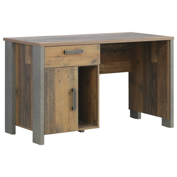 Sconto Psací stůl CLIF staré dřevo/beton