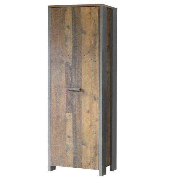 Sconto Předsíňová skříň CLIF staré dřevo/beton