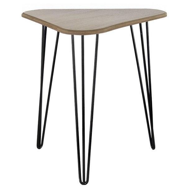 Sconto Přístavný stolek ELSTRA přírodní/černá