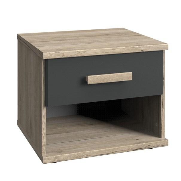 Sconto Noční stolek EMPOLI dub san remo/grafit