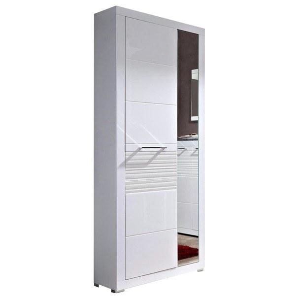 Sconto Předsíňová skříň FELIN 20 bílá/vysoký lesk