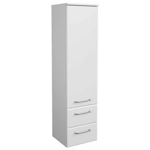 Sconto Polovysoká koupelnová skříňka FILO bílá vysoký lesk