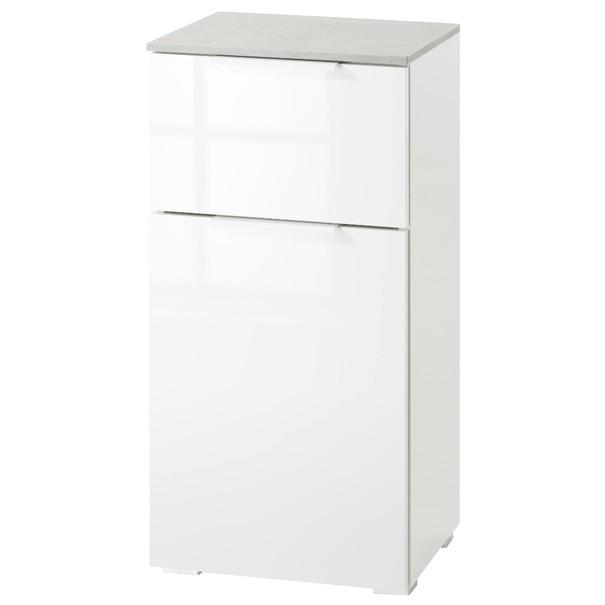 Sconto Koupelnová skříňka GAVERA bílá/beton