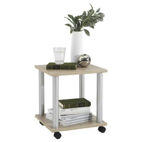 Sconto Přístavný stolek JANGO 11 dub/kov