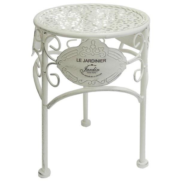 Sconto Zahradní stolek JARDINE bílá
