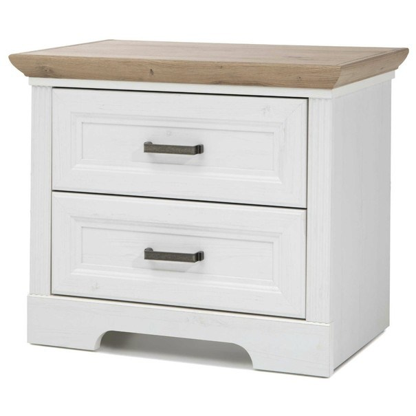 Sconto Noční stolek JASMIN dub artisan/bílá