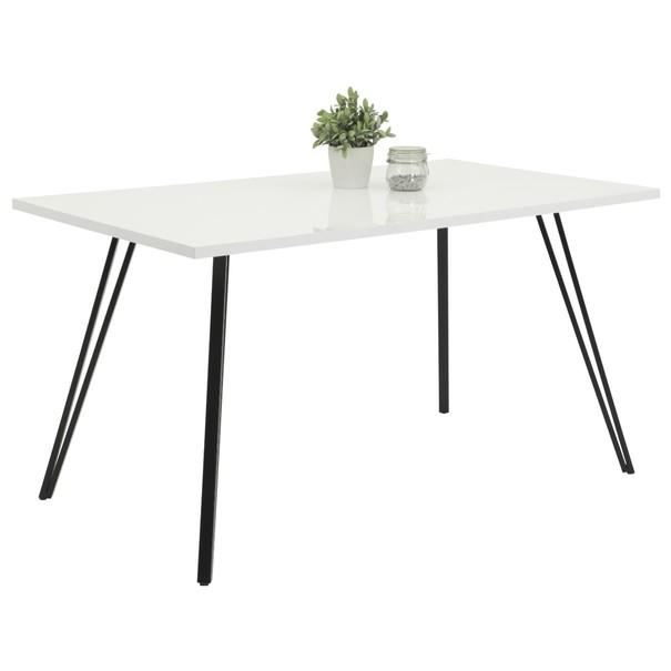 Sconto Jídelní stůl JENNIFER T bílá/černá