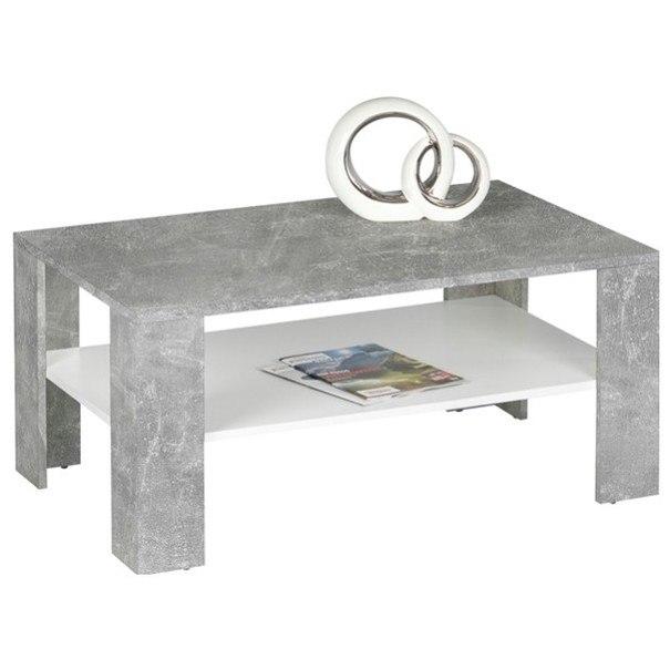 Sconto Konferenční stolek JOKER 66 beton/bílá