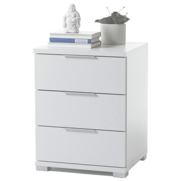 Sconto Noční stolek KORON 3 bílá