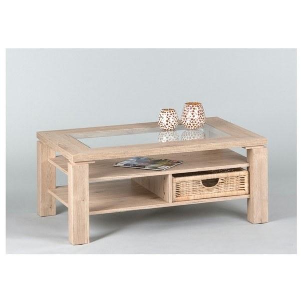 Sconto Konferenční stolek LAZY A4 dub san remo