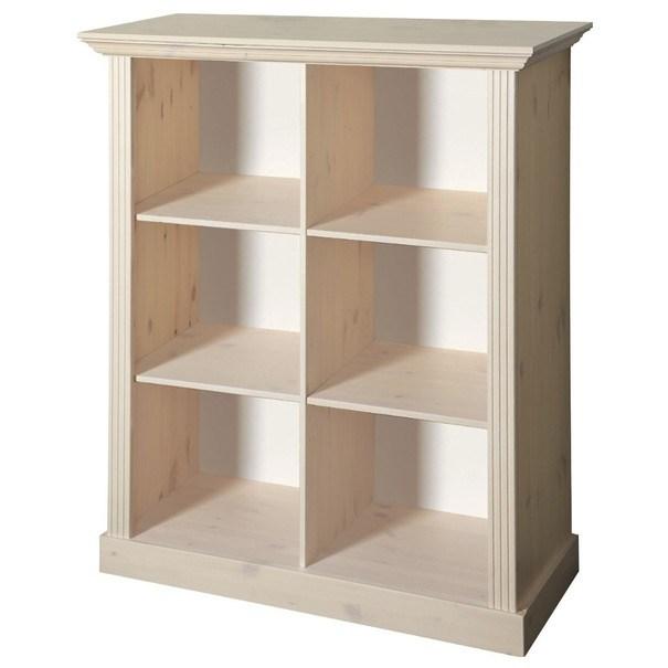 Sconto Regál / knihovna MONACO 144 borovice bílá