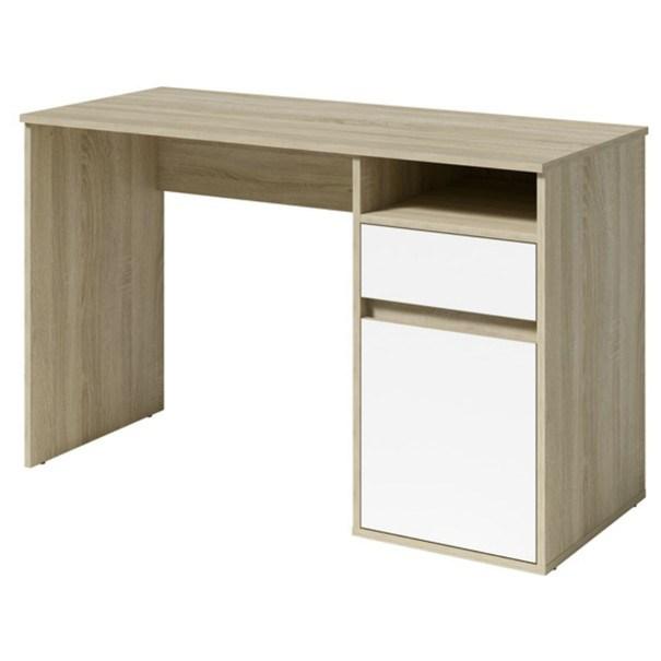 Sconto PC stůl NEAPOL dubu sonoma/bílá