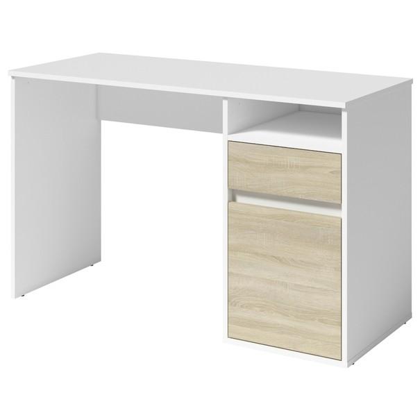 Sconto PC stůl NEAPOL bílá/dubu sonoma