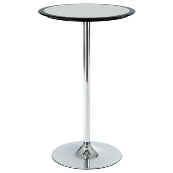 Sconto Barový stolek ONTARIO černo-stříbrná