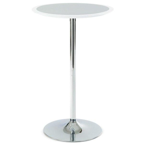 Sconto Barový stolek ONTARIO bílo-stříbrná