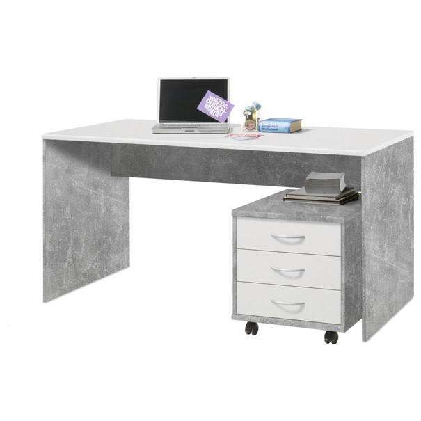 Sconto Kontejner OPTIMUS 34-006 beton/bílá