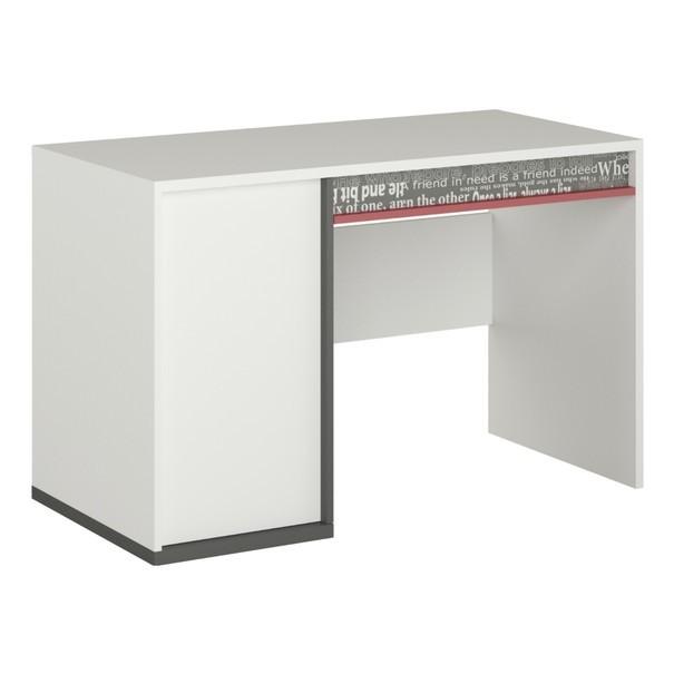 Sconto Psací stůl PHILOSOPHY PH-09 bílá/grafit