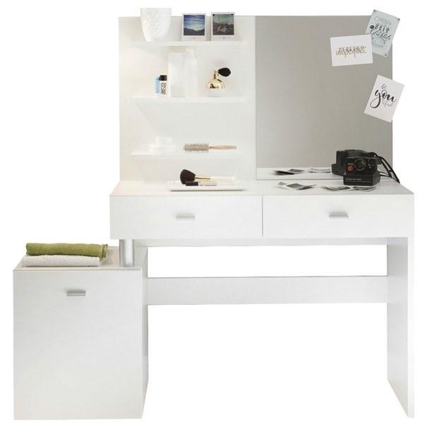 Sconto Toaletní stolek SHADOW bílá