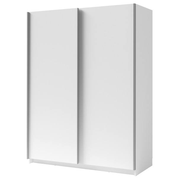 Sconto Šatní skříň SPLIT bílá/šířka 150 cm