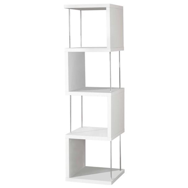 Sconto Regál/knihovna STICKS bílá/kov