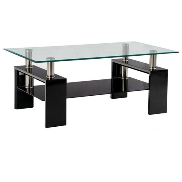 Sconto Konferenční stolek TOLEDO černá/sklo