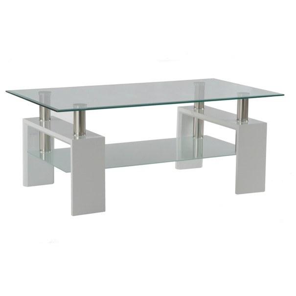 Sconto Konferenční stolek TOLEDO bílá/sklo