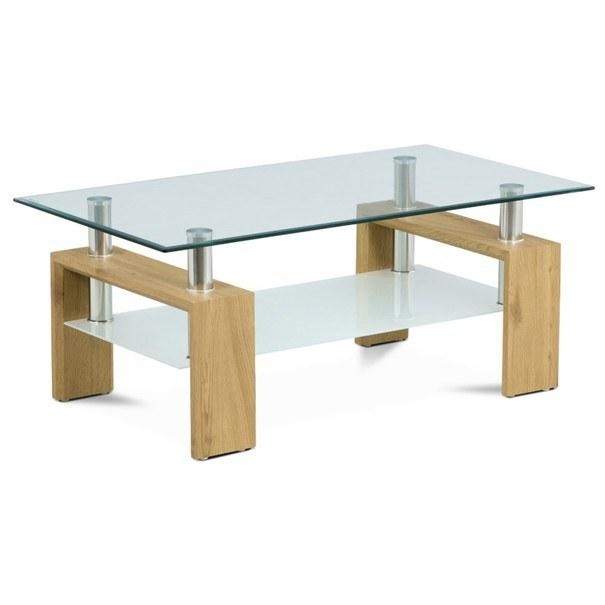 Sconto Konferenční stolek TOLEDO divoký dub/sklo