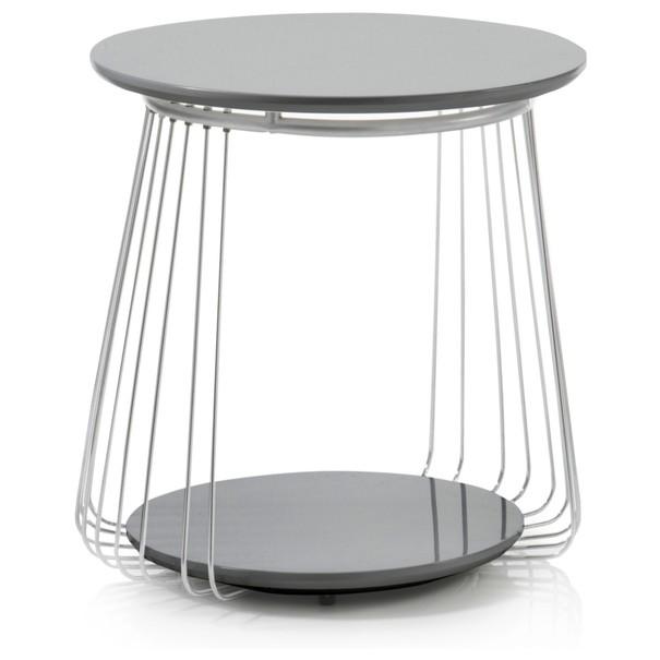 Sconto Přístavný stolek VENUTO černá, 50 cm