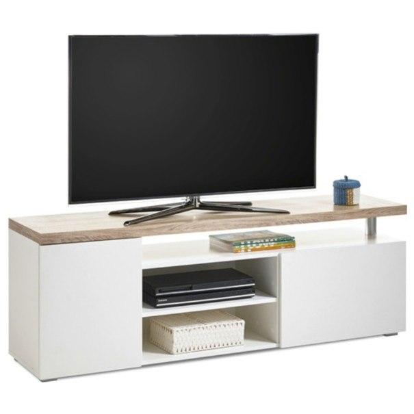 Sconto TV stolek VIEW 7 dub sonoma/bílá