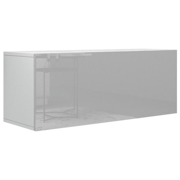 Sconto TV stolek VIVO VI 1 LED bílá, vysoký lesk