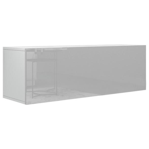Sconto TV stolík VIVO VI 2 LED bílá, vysoký lesk