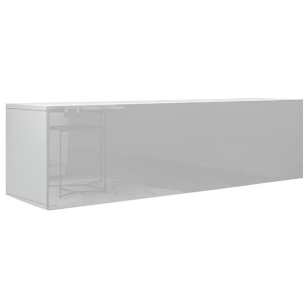 Sconto TV stolek VIVO VI 3 LED bílá, vysoký lesk