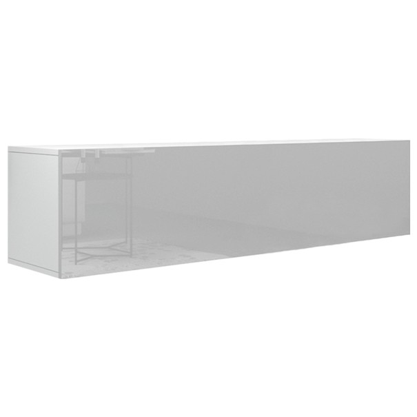 Sconto TV stolek VIVO VI 4 LED bílá, vysoký lesk