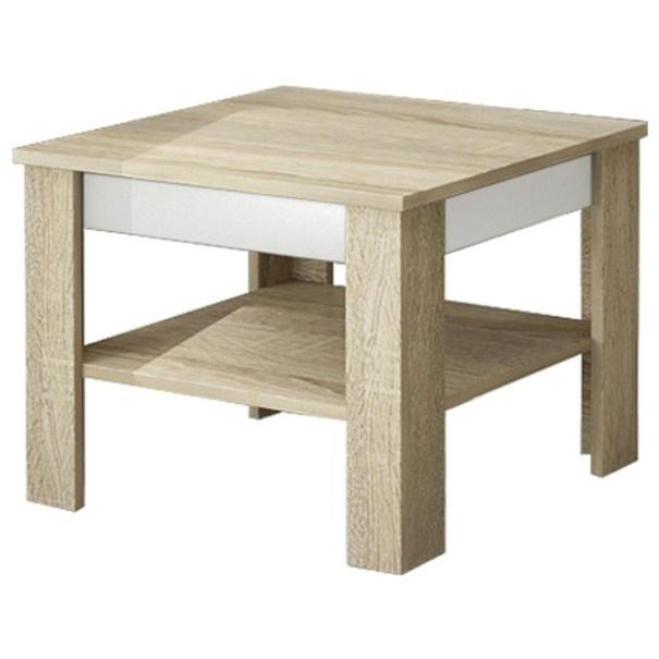 Sconto Konferenční stolek VOTO 1 dub sonoma/bílá