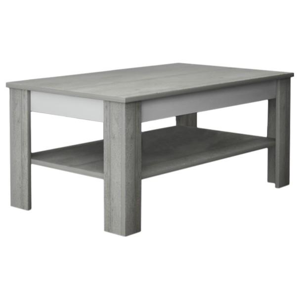Sconto Konferenční stolek VOTO 2 beton/bílá