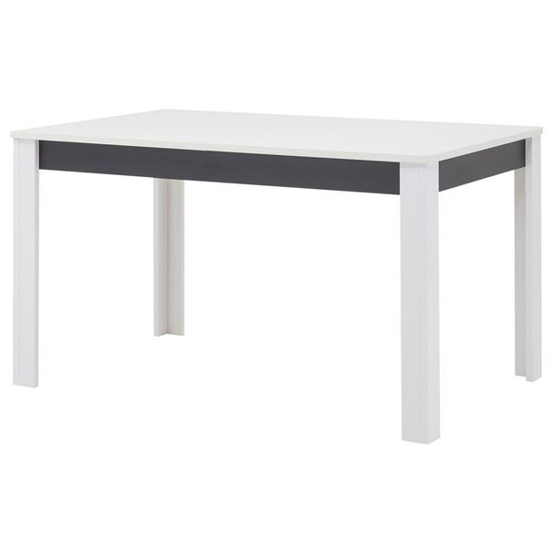 Sconto Jídelní stůl WHITNEY GREY bílá/šedá