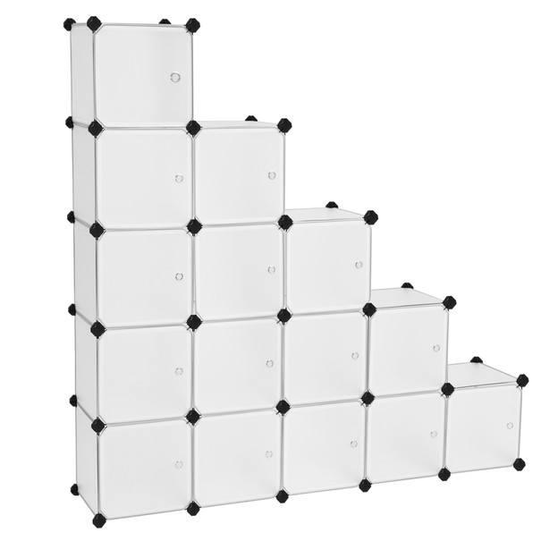 Sconto Úložný plastový organizér LPC44BS bílá/transparentní