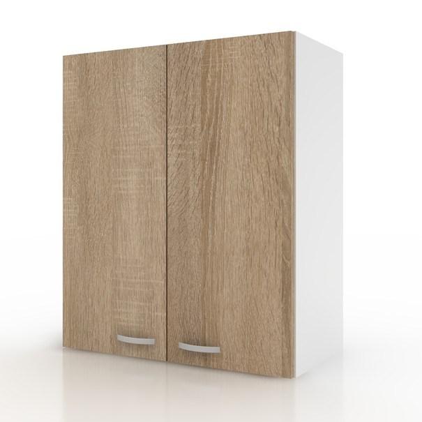 Sconto Závěsná horní skříňka POLAR II dub sonoma/bílá, 60 cm