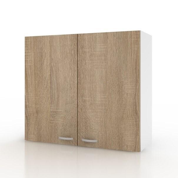 Sconto Závěsná horní skříňka POLAR II dub sonoma/bílá, 80 cm